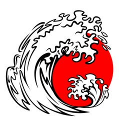 Tsunami wave vector image