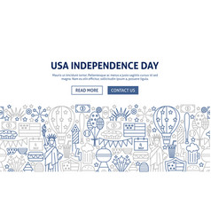 usa independence day banner design vector image
