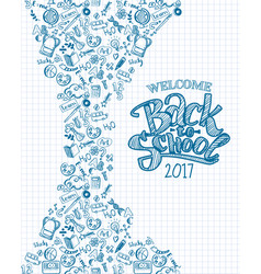Vertical back to school background vector