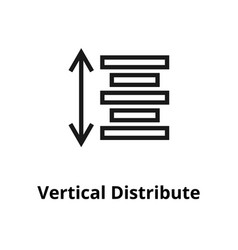 Vertical distribute line icon vector