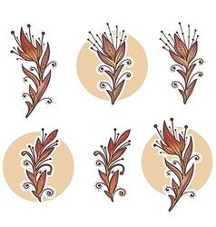 Watercolor flowers vector