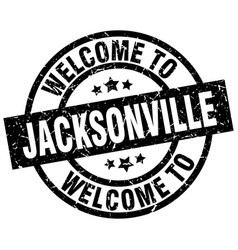 Welcome to jacksonville black stamp vector