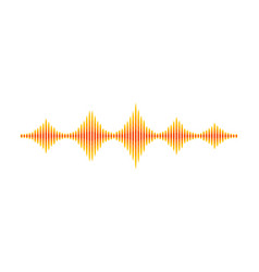 Yellow-orange music wave sound vibrations vector