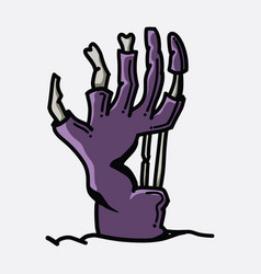 zombie hand doodle color icon drawing sketch hand vector image