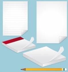 blank pages note and pencil vector image vector image