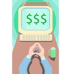 business motivation work for dollars vector image