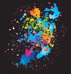 color grunge background on black vector image vector image