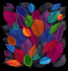 dark leaves background vector image vector image