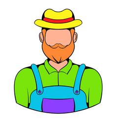 farmer icon cartoon vector image vector image