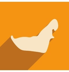 Flat icon with long shadow map arab emirates vector