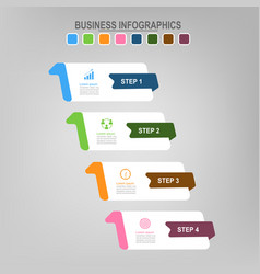 four banners for infographics business concept vector image vector image