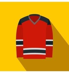 Hockey uniform flat icon vector image