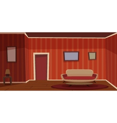 Retro Living Room vector image vector image