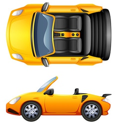 A top and side view of a sports car vector image vector image