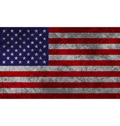 American Flag Grunge vector image