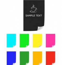 color paper sheets vector image