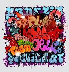 graffiti street art elements vector image
