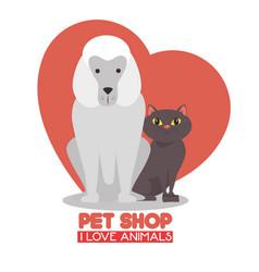 pet shop logo vector image