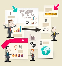 Presentation Infographics - Graphs with vector image vector image