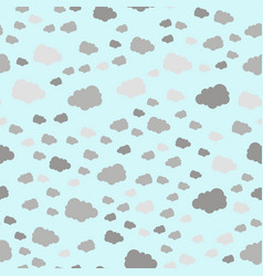 seamless pattern cloud art nature sky background vector image vector image
