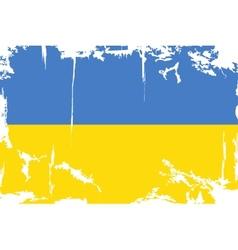 Ukrainian grunge flag vector image vector image