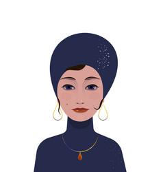 beautiful gypsy woman soothsayer ar-deco vector image vector image