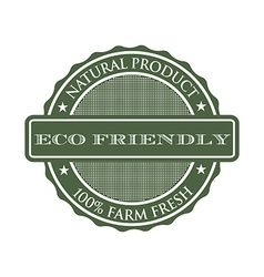 eco-friendly product seal logo vector image