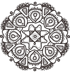 hand drawn flower mandala Ethnic ornament vector image vector image