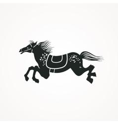 Running Horse vector image