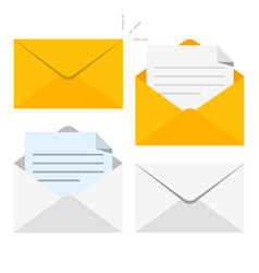 set of icons with a picture of a closed letter vector image vector image