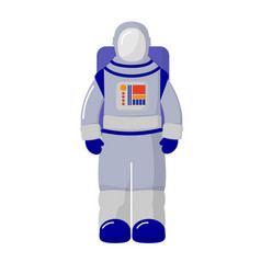 the cosmonaut in the suit isolated on white vector image vector image
