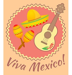 Viva mexico vector image vector image