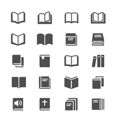 book glyph icons vector image vector image