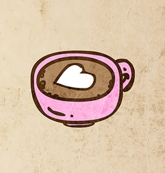 Coffee with a Love Heart Cartoon vector image vector image