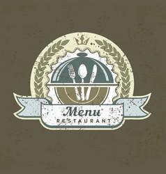 design menu label on grange vector image