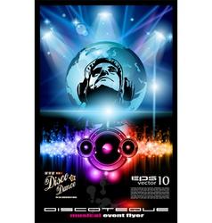 disco poster vector image