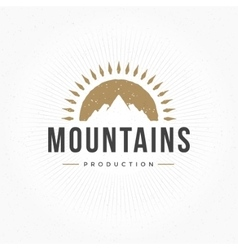 Mountain Hand Drawn Logo Template Design vector image vector image