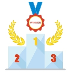 podium winner medal icon vector image