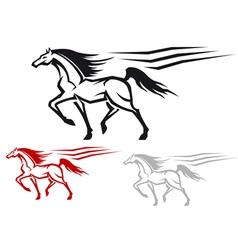 Racing arabian stallion vector