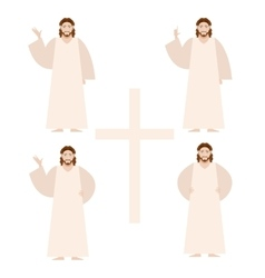 Set of Jesus vector image