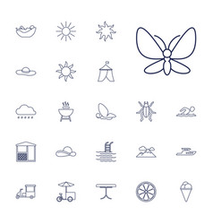 22 summer icons vector