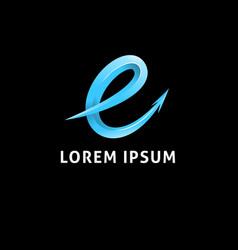 3d letter e logo vector