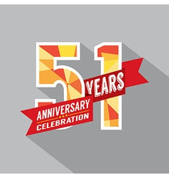 51st Years Anniversary Celebration Design vector