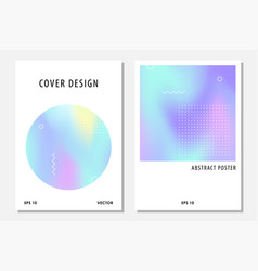 abstract cover set with holographic elements vector image