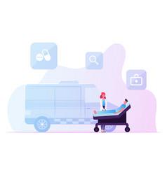 Ambulance medical staff service occupation medic vector