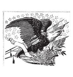 American eagle vintage vector