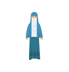 arabic muslim woman muslim woman in traditional vector image