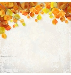autumn leaves plaster wall background vector image