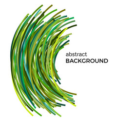 Background with green colorful curved lines vector