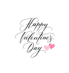 background with hearts and happy valentines day vector image